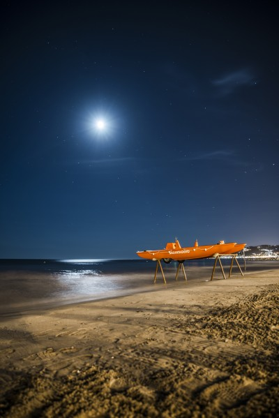 seaside nightview landscape