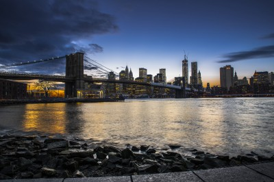 new york panorama skyline brooklyn bridge by filippo orsi