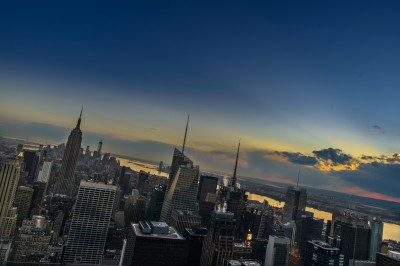 new york skyline empire state by filippo orsi