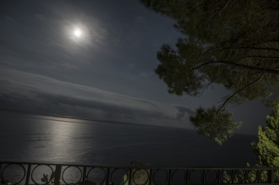 Moonlight night view